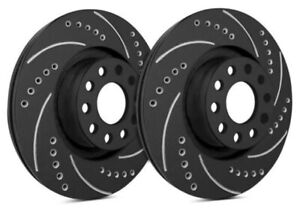 Sp Front Rotors For 2001 Mustang Svt Cobra Drilled Slotted Black F54 045 bp108