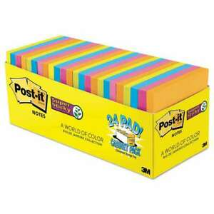 Post it Notes Super Sticky Pads In Rio De Janeiro Colors 3 X 3 051141374888