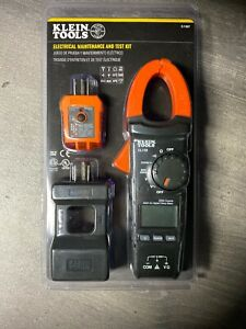 Electrical Maintenance And Test Kit Klein Tools Clamp Meter Digital Tester New