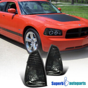 For 2006 2010 Dodge Charger Corner Lamps Signal Lights Smoke