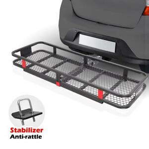 60 20 Steel Cargo Carrier Basket Rack With 2 Hitch Receiver 500lbs Lc