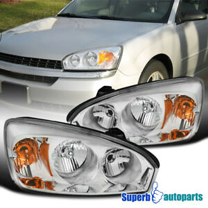 For 2004 2008 Chevy Malibu Headlights Replacement Driving Lamps Pair Left Right