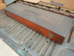 Vintage Brown And Sharpe Height Gauge Gage Wooden Case Machinist Tool