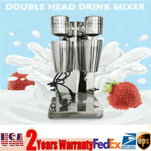 Commercial Double Head Drink Mixer Milk Shake Machine 110v 180w Stainless Steel