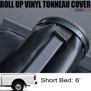 Lock Roll Up Soft Tonneau Cover For 83 Ranger Styleside Std ext 6 Ft 72 Bed