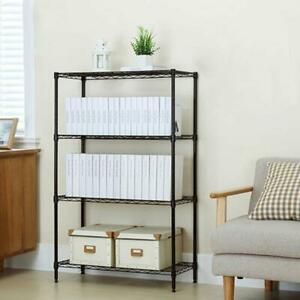 56x36x14 Storage Rack 4 Tier Organizer Kitchen Shelving Steel Wire Shelves Us