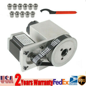 Cnc Router Axis 4th Axis Hollow Shaft Rotational Engraving Er32 Collet 3 20mm Us