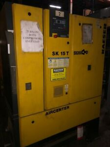 Kaeser Sk15t 15 Hp Air Compressors With Built in Air Dryer And Tank