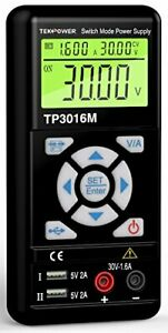 Tekpower Tp3016m Portable Handheld Variable Dc Power Supply With Usb Port