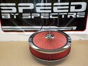Spectre 47623 Hpr Extraflow 14 X 3 Air Cleaner fits Holley 4 Barrel Carb