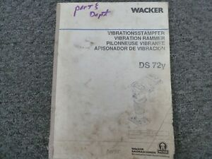 Wacker Ds72y Jumping Jack Compactor Rammer Parts Catalog Owner Operator Manual