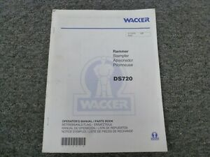 Wacker Ds720 Jumping Jack Tamper Rammer Parts Catalog Owner Operator Manual