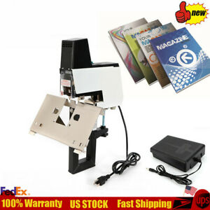 Auto Electric Stapler Flat saddle Binder Book Binding Machine Foot Switch 110v