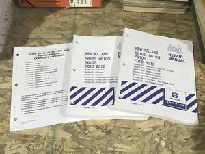 New Holland 5610s 6610s 7610s 7010 8010 Tractor Service Repair Manual Nh