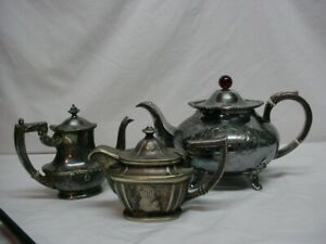 Property Of White House Teapot James Dixon 2 Others W Hallmarks Silver Plate