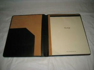 Hp Cambridge Black Leather Senior Portfolio W cambridge 40 Sheet Legal Pad