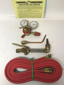Uniweld Mr8211 Acetylene Regulator Cutting Welding Torches With Hoses