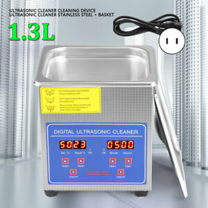 1 3l Ultrasonic Cleaner Stainless Steel Industry Heated Heater W timer New