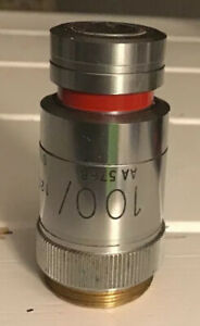 Microscope Optics Part Vickers Uk Objective 100x Oil Used As Is