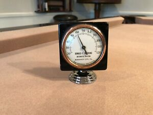 Antique Auto Advertising Thermometer Rare 1930s 40s 1950s Accessory Chevy Ford