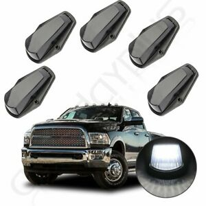 5x 12 Led Smoke White Cab Marker Roof Running Light For Ford F 250 F 350 80 97