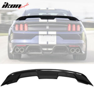 Fits 15 20 Ford Mustang Coupe Gt500 Style Trunk Spoiler Wing Gloss Black Abs