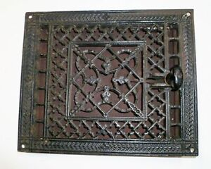 Antique Cast Iron Wall Ceiling Grate Heat Vent Register 11 5 X 9 5 Louver