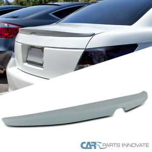 For 08 12 Honda Accord 4dr Factory Style Unpainted Abs Rear Trunk Spoiler Wing