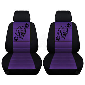 Two Front Customized Seat Covers Fits Selected Honda Models Labrador Desgin