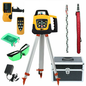 Samger Automatic Self Levelling Rotating Green Laser Level Rotary Tripod Staff