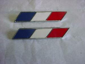 1964 O e m Studebaker Hawk Red white blue Chevron Chrome Emblem 2