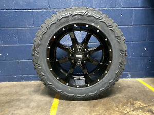 20x10 Black Moto Metal Mo970 Wheels Rims 33 Mt Tires 6x5 5 Chevy Silverado 1500