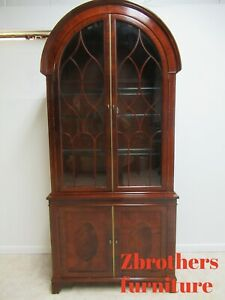 Baker Furniture Historic Charleston Mahogany Dome Top Hutch China Cabinet Curio