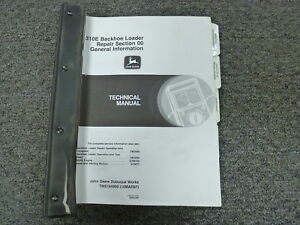John Deere 310e Backhoe Loader Shop Service Repair Technical Manual Tm1649