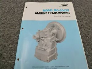 Twin Disc Mg 5062v Transmission Assembly Dimensional Specifications Manual