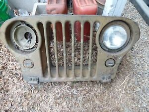 1941 1942 1943 1944 1945 1946 Willys Jeep Grille Military Blackout Lights