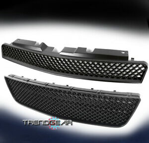 2006 2013 Chevy Impala Upper Hood Bumper Lower Mesh Grille Insert Black Combo