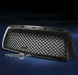 For 2007 2008 2009 Toyota Tundra Front Main Upper Sport Mesh Grille Gloss Black