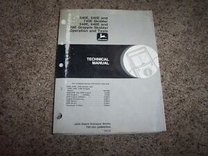 John Deere 540e 640e 740e 548e 648e 748e Skidder Service Repair Manual Tm1485