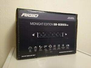 Rigid 6 Sr series Pro Midnight Edition Spot Optics Led Light Bar