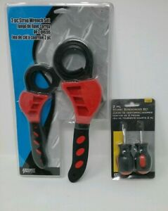 New Projectpro 2pc Strap Wrench Set 2pc Stubby Screwdriver Set