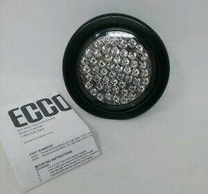 Ecco 3945r Round Grommet Mount Led Flasher red 12vdc
