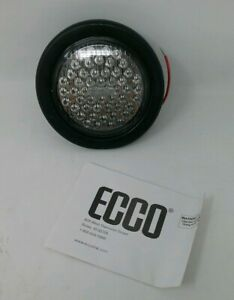 Ecco 3945b Round Grommet Mount Led Flasher blue 12vdc