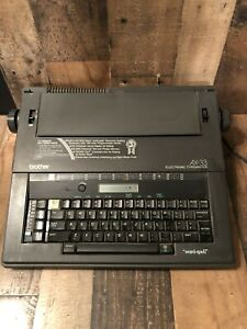 Vintage Ax 33 Brother Word spell Electric Typewriter cover Tested And Works