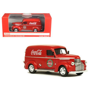 New 1945 Coca-Cola Panel Delivery Van Red 1/43 Diecast Model Car by Motorcity Cl