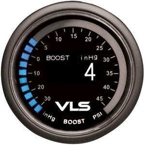 Revel Vls Black 52mm 30inhg 45psi Digital Oled Boost Turbo Gauge