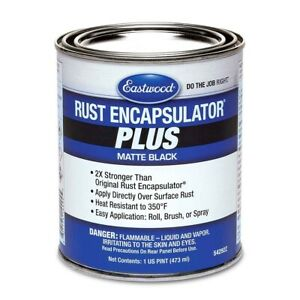 Eastwood Matte Black Rust Encapsulator Plus 1 Pint Long Lasting Heat Resistant