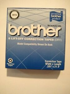Brother 3015 6pk Lift off Correction Tape dry New In Box