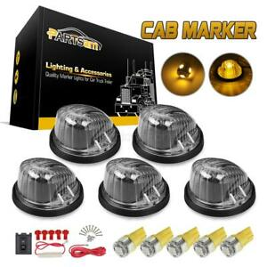 5xcab Marker Clear Lens Round Assembly 5050 smd T10 Amber Led Wiring For Chevy