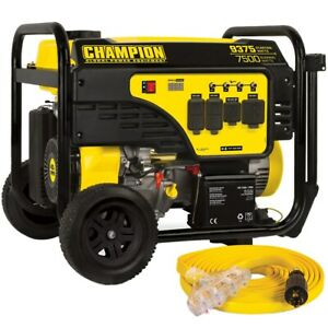 Champion 100693 7500 Watt Electric Start Portable Generator carb W Conve
